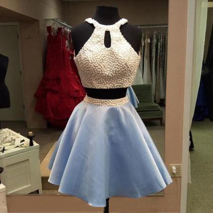 Homecoming Dress,Light Sky Blue Hom..