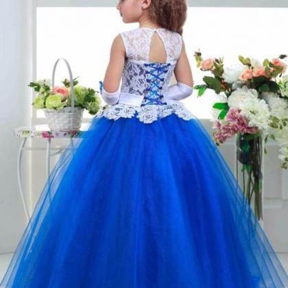 Flower girl dresses.Elegant Crystal..