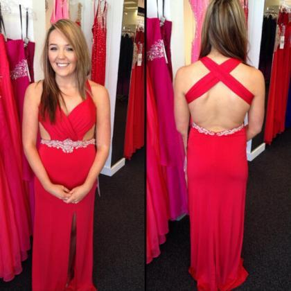Red Prom Dresses,A line Prom Dress,..