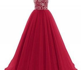 Prom Dress,Maroon Lo..