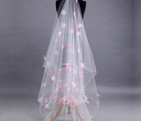 Long White Tulle Wed..