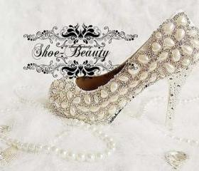 Pearl Wedding Shoes,..