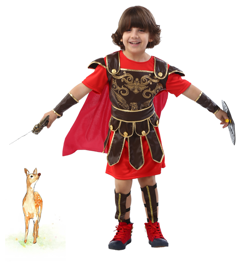 Children S Halloween Costume For Cosplay Boys Roman Wang Zisi Sparta