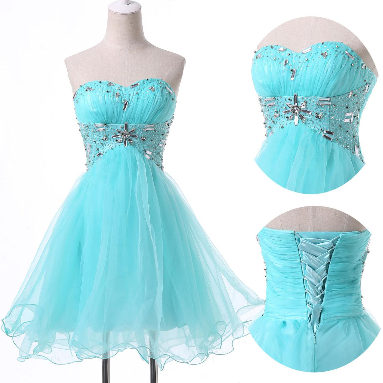 Lace Up Back Short Homecoming Dress,CHEAP NEW Homecoming Dresses ...