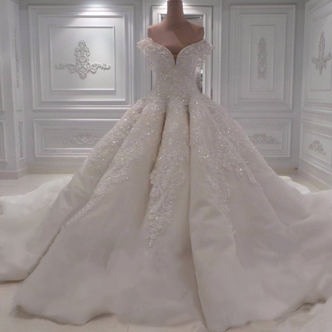 Wedding Dresses, Wedding Gown,sexy Off The Shoulder White Lace Sweetheart  Ball Gown Wedding Dresses With Illusion Back 2017 New Design Princess  Wedding ...