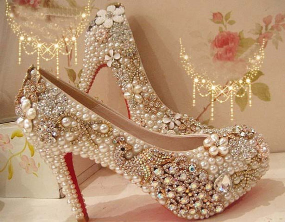 3053d499bbd4e Pearl Wedding Shoes, Bridal Shoes, Bridal, Women Peep Toe Shoes Lady  Evening Party Club High Heel Dress Shoes,Fashion 2017 High Heel Wedding  Shoes ...