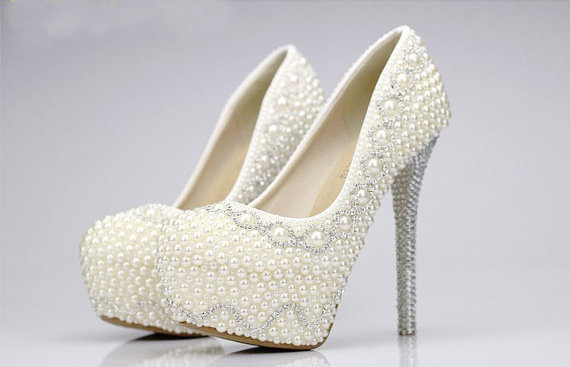 Pearl Wedding Shoes ebc6fecb32