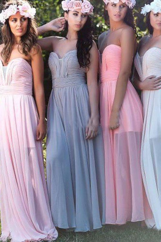 Colorful Bridesmaid Dresses Sweetheart New Arrival Chiffon Simple