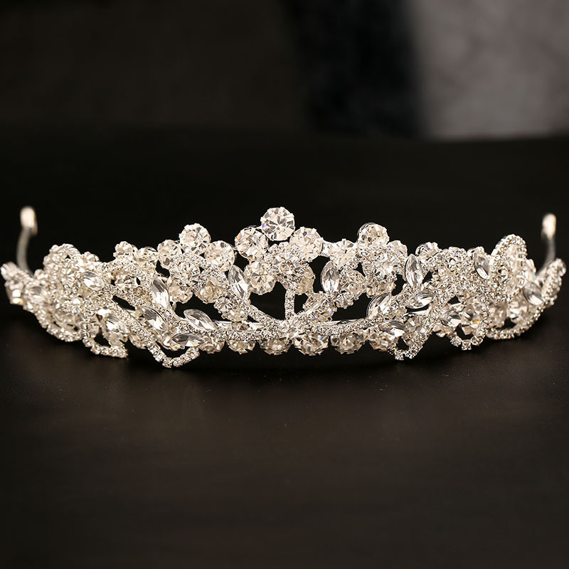 wedding jewelry , crown ,Diamond jewelry,Flash jewelryedd,The bride wedding dress crystal crown Diamond crownThe bride crown Korean rhinestones bride headdress