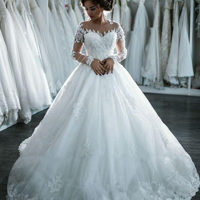 Wedding Dresses,Wedding Gown,Princess Wedding Dresses Elegant Ball ...