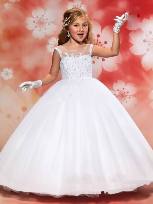269a84810020 Princess White Ball Gown Flower Girl Dresses For Weddings Lovely ...