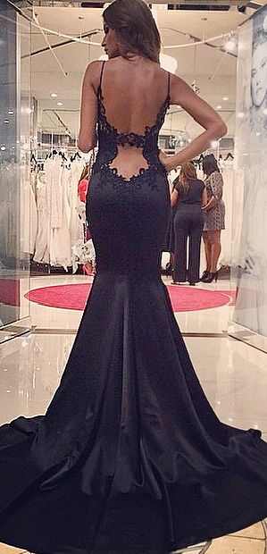 Black Lace Prom Dress 3fa01540f