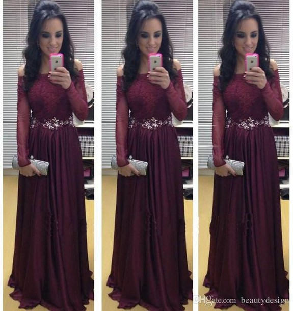 New Arrival Long Sleeve Floor-Length Charming Prom Dresses,A-Line Lace Floor-Length Evening Dresses, Prom Dresses, Real Made Prom Dresses On Sale,