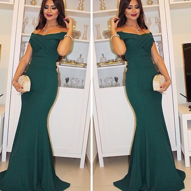 Dark Green Prom Dress 25099f2bb
