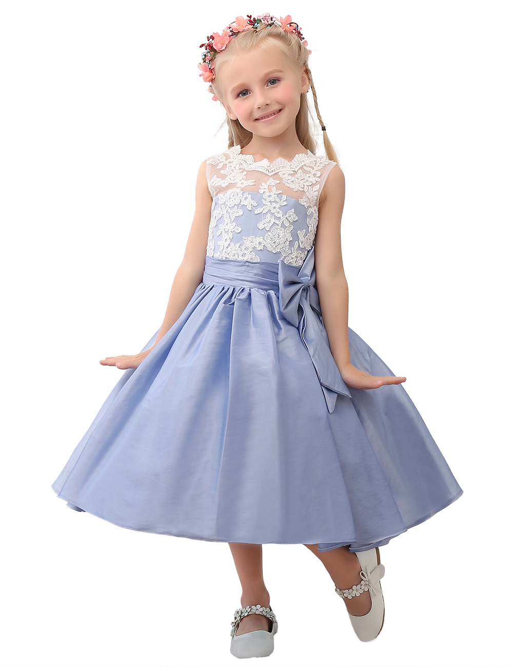 Blue Flower Girl Dress Lace Flower Girl Dress Girls Dresses Cheap