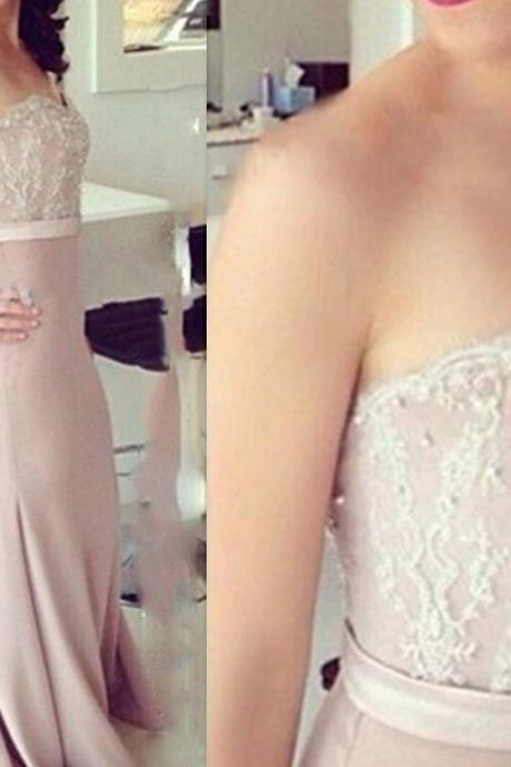 Lace Prom Dresses,Pink Evening Dress,Sweetheart Prom Dress,Satin Prom Dress,Lace Prom Gown,Sexy Prom Dress,Long Prom Gown,Modest Evening Gowns For Teens