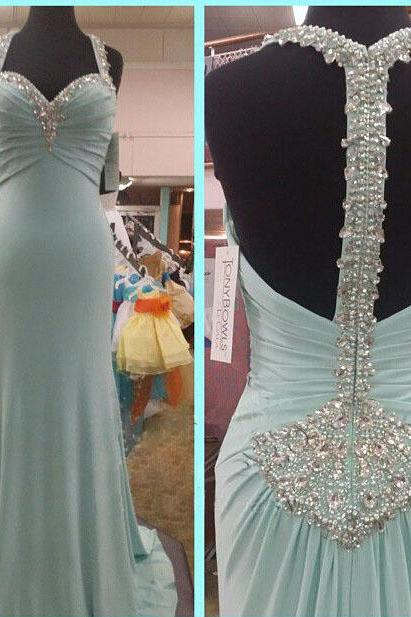 Long Prom Dress, Blue Prom Dress, Unique Prom Dress, Formal Prom Dress, Inexpensive Prom Dress, Popular Prom Dress,Evening Dresses