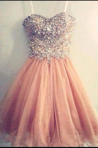 Custom Made A Line Sweetheart Neck Short Prom Dresses, Formal Dresses, Graduation Dresses, Short Homecoming Dress, Cocktail Dress