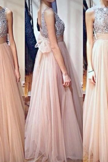 Nude Evening Dresses,Jewel Evening Dresses, Backless Evening Dresses, Crystal Evening Dresses,Tulle Evening Dresses, A Line Evening Dresses, FormalEvening Dresses, Pageant Prom Dress , Custom Evening Gown
