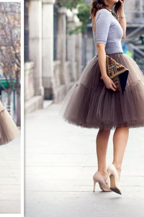 2017 Fashion Skirt,Tulle Skirt,Charming Women Skirt,spring Autumn Skirt