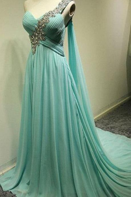Charming Prom Dress,Sweetheart Prom Dress,A-Line Prom Dress,Chiffon Prom Dress,One-Shoulder Prom Dress long prom dress
