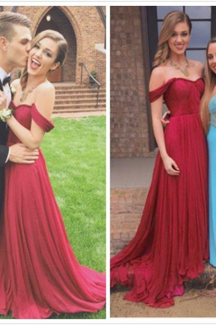 Sexy Prom DressHigh Quality Prom Dress,Chiffon Prom Dress,A-Line Prom Dress,Pleat Prom Dress,Sweetheart Prom Dress long prom dress