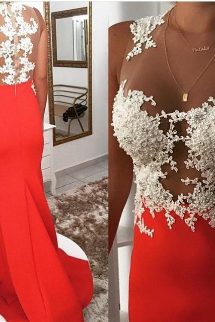 Red prom dress, sleeveless prom dress, lace prom dress, new design prom dress, beautiful prom dress, evening dress, sleeveless prom dress