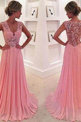 Long Prom Dress, Lace Prom Dress, Junior Prom Dress, Cheap Prom Dress, Seen Through Back Prom Dress, Popular Prom Dress, Evening Dress