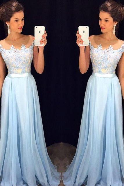 long prom dress, blue prom dress, popular prom dress, formal prom dress, lace prom dress, formal prom dress, evening dress