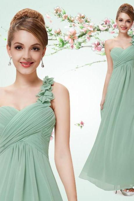 long bridesmaid dress, one shoulder bridesmaid dress, chiffon bridesmaid dress, dress for bridesmaid, simple bridesmaid dress, cheap bridesmaid dress