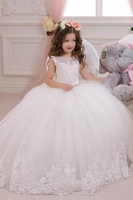 Children Dress,Flower Girls Dresses,Kids Dress,Child Clothing,Girl Brithday Party Dress,Princess Dress,Girl Party Dress,Ball Gown holy communion dresses custom made white flower girl dresses for wedding lace appliques beaded pageant gown