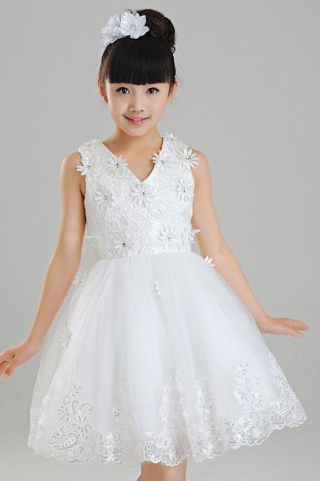 Children Dress,Flower Girls Dresses,Kids Dress,Child Clothing,Girl Brithday Party Dress,Princess Dress,Girl Party DressFlower Girls Dresses Ball Gown Applique Princess Girls First Communion Dress Party Dress