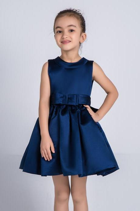 Children Dress,Flower Girls Dresses,Kids Dress,Child Clothing,Girl Brithday Party Dress,Princess Dress,Girl Party Dress,bridesmaid DressFlower Girls Dresses Navy Blue Kids Girls First Communion Dress Party Dress