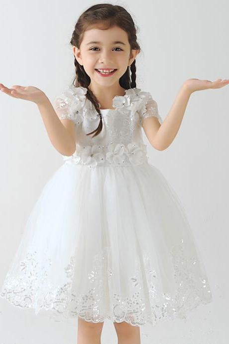 Children Dress,Flower Girls Dresses,Kids Dress,Child Clothing,Girl Brithday Party Dress,Princess Dress,Girl Party Dress,bridesmaid Dresslower Girls Dresses lace Applique Princess Girls First Communion Dress Party Dress