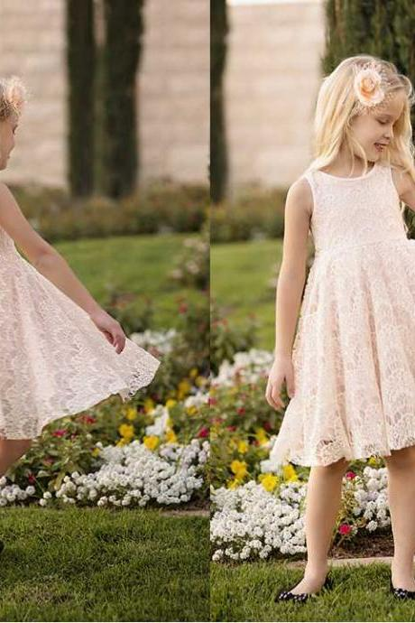 champagne lace flower girl dress wedding flower girl dress wedding girl dress lace flower girl dresses