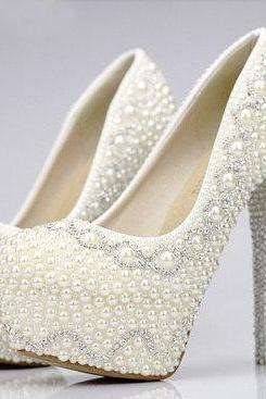 Pearl Wedding Shoes 204d12ac12
