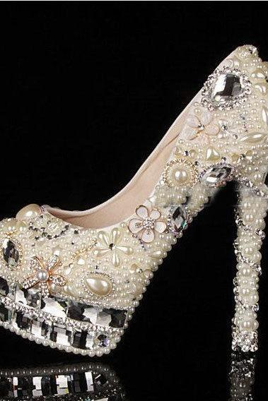 4d4c1cdf075527 Pearl Wedding Shoes