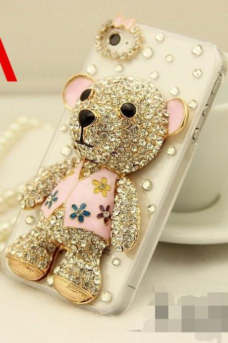 6c 6s plus Cute Teddy Bear diamond Hard Back Mobile phone Case Cover bling Rhinestone Case Cover for iPhone 4 4s 5 7plus 5s 6 6 plus Mobile phone Case Cover bling girly Rhinestone Case Cover for iPhone 4 4s 5 7plus 5s 6 6 plus