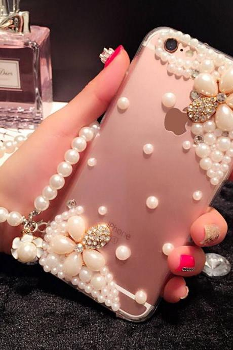 6s plus 6c Pearl Rhinestone floral love Hard Back Mobile phone Case, Cover bling Case Cover for iPhone 4 4s 5 7plus 5s 6 6 plus Mobile phone Case Cover bling girly Rhinestone Case Cover for iPhone 4 4s 5 7plus 5s 6 6 plus