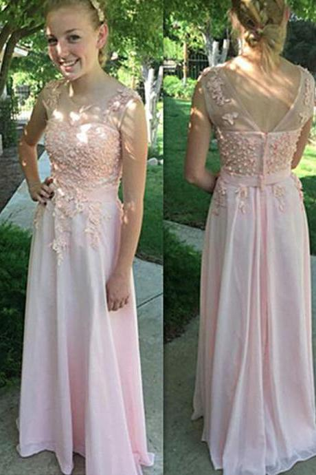 Pink Prom Dress,Scoop Prom Dress,Pretty Prom Dress,Prom Dress, Party Prom Dress,Long Prom Dress,Prom Dresses,Prom Dress Gownss,Homecoming Dress,