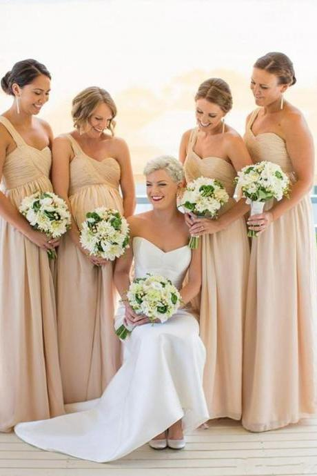 One shoulder Bridesmaid Dresses,Chiffon Bridesmaid Dress,Simple bridesmaid dress,Cheap bridesmaid dress, Wedding Party Dresses,Long Bridesmaid Dress,Bridesmaid Dresses,Bridal Gownss,Homecoming Dress,