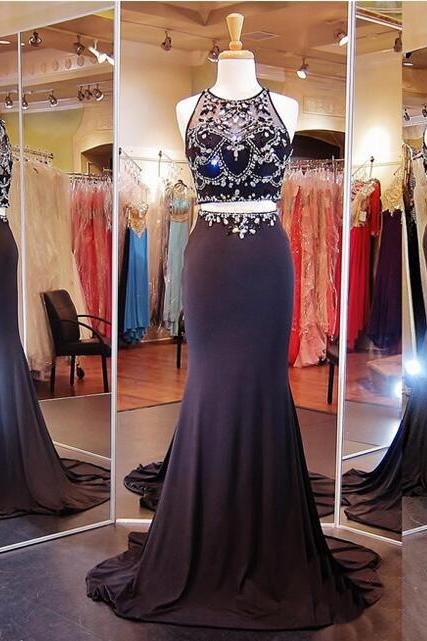 Two Pieces Prom Dress,Sparkly Prom Dress,New Arrival Prom Dress ,Mermaid Prom Dress,Party Prom Dresses ,Evening dresses, Prom Dresses,Long Prom Dresss,Homecoming Dress,