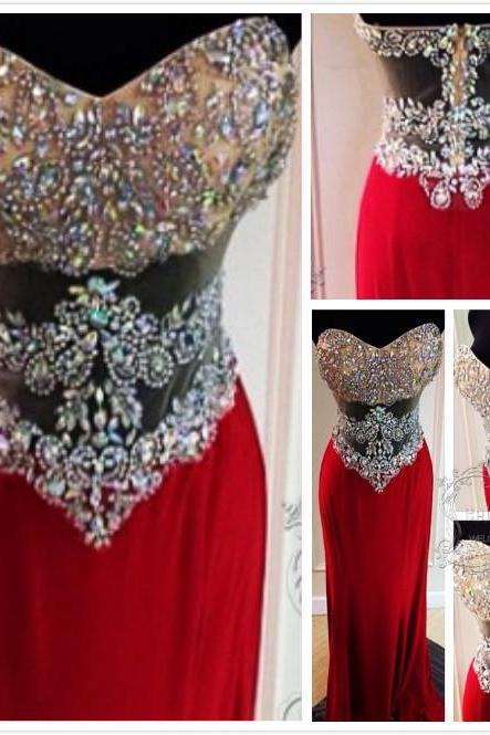 Evening Dresses,prom dress ,long prom dress ,lace prom dress O neck prom dress,V back prom dress ,party dress ,Sparkling Red Long Prom Dress,Beaded Prom Dress, Prom Gowns,Sexy Prom Dress,Sheer Prom Dress,Handmade Prom Dress with Sequin,Women Formal Prom Dress