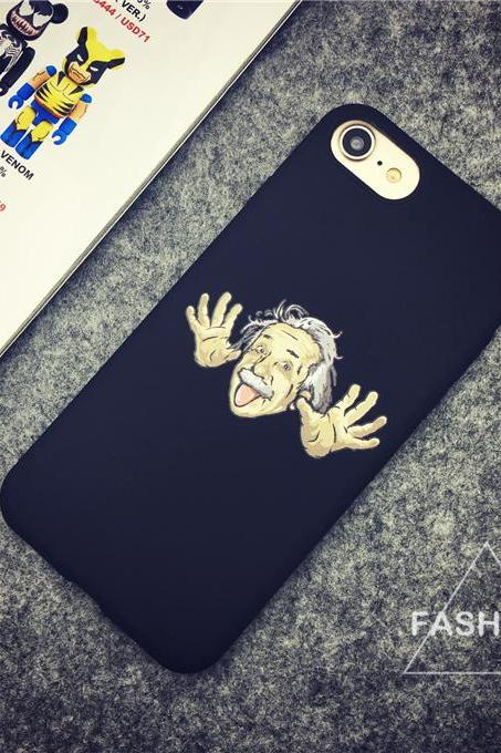 ipone case ,Funny phone shell,iphone phone shell, silicone phone shell, Spoof Einstein phone shell,Spoof phone shell, 6, 6 s,6 plus. 6 splus, 7,7plus