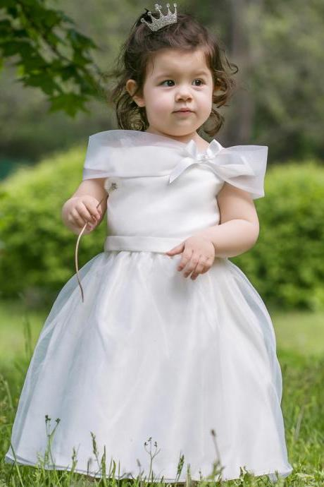 2017 Flower Girl Dresses Flower children's clothes,Autumn child dress, girls dress princess dress, flower children's wear dress children dress , wedding flower children's clothes, bowknot flower children's clothes, beads girl's skirt