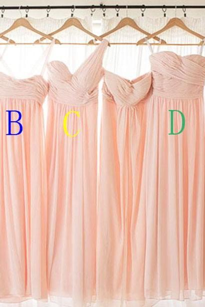 Blush Pink Bridesmaid Gown,Pretty Bridesmaid Dresses,Blush Pink Prom Gown,Simple Bridesmaid Dress,Cheap Wedding Dresses,Fall Wedding Gowns,Bridesmaid Dresses,2016 Spring Bridesmaid Gown