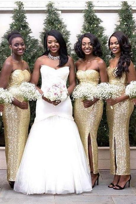 Sequin Bridesmaid Dress,Long Bridesmaid Gown,Sequined Bridesmaid Gowns,Sequins Bridesmaid Dresses,Bridesmaid Gown,Modest Bridesmaid Gown