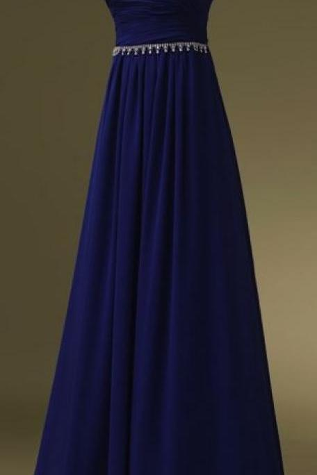 Royal Blue Prom Dresses,Sweetheart Evening Gowns,Simple Formal Dresses,Beaded Prom Dresses,Long Evening Gown,Modest Evening Dress,Chiffon Prom Dresses,New Style Prom Gown