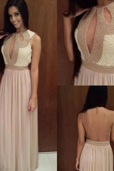 Backless Prom Dresses,Prom Dress,Chiffon Prom Dress,A line Prom Dresses,Evening Gowns,Party Dress,Prom Gown For Teens
