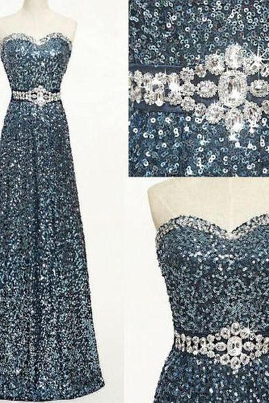 Charming Prom Dress,Sequin Prom Dress,Sweetheart Prom Dress,A-Line Evening Dress, Formal Occasion Dresses,Formal Dress